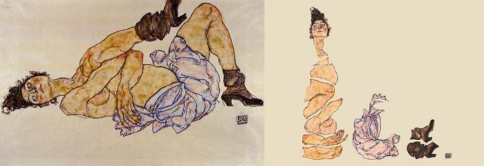 Egon Schiele, Reclining Female Nude, 1917